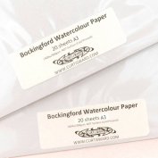 Bockingford Artists Cold Pressed (NOT Surface) WaterColour Paper A3 Pack 20 Sheets 300g Curtisward Pack