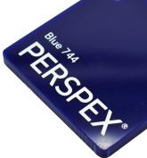 3mm Blue Gloss 744 Perspex Cast Acrylic Sheet 300mm x 300mm