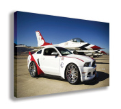 FORD MUSTANG GT US AIR FORCE THUNDERBIRDS CANVAS WALL ART