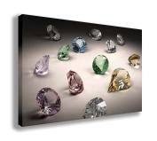 DIAMONDS CANVAS WALL ART