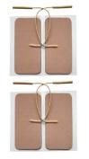TENS Electrode Pads - Premium Oblong Advantrode Obstetric Pads - 4.5cm x 9.5cm - by Natures Gate