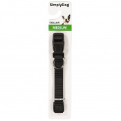 Simply Dog Plain Collar Black Medium