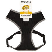 Simply Dog Reflective Harness Black Large
