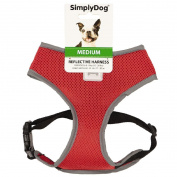Simply Dog Reflective Harness Red Medium