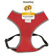 Simply Dog Reflective Harness Red Large