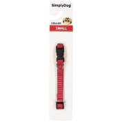 Simply Dog Plain Collar Red Small