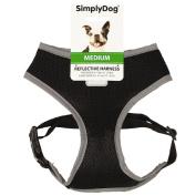Simply Dog Reflective Harness Black Medium
