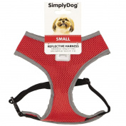 Simply Dog Reflective Harness Red Small