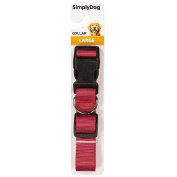 Simply Dog Plain Collar Red Large