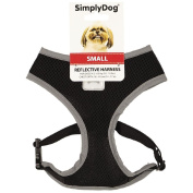 Simply Dog Reflective Harness Black Small