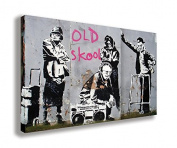 BANKSY GRAFFITI ART OLD SCHOOL MUSIC CANVAS WALL ART