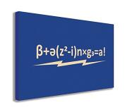 THE BBT BAZINGA BLUE WALL ART CANVAS