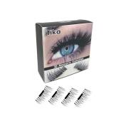 PaZinger 4Pieces set Magnetic 3D False Eyelashes Long Natural Fake Eye Lashes Extension