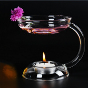 Glass Fragrance Oil Incense Burner Holder Candle Aromatherapy Oil Lamp for Spa Home Decoration