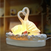 LUOTIANLANG High-end gift _ ceramic Swan aromatherapy lamp are high-end gifts manufacturers selling