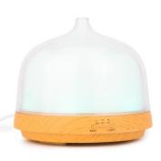 LUOTIANLANG 200ML multifunctional wood grain humidifier, ultrasonic atomizing fragrance machine, LED colourful incense lamp