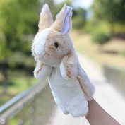 UCTOP STORE Hand Puppet Stuffed Animal 30cm Toy Classic Children Figure Puppet Toys Plush Cute Bunny Style Colour Random
