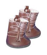 Dark Brown Cowboy Boots for a teddy bear