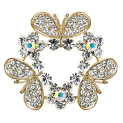 Cdet 1X Brooch Women Flower Diamond Pin Christmas Wedding Bridal Pin Dress Scarves Shawl Clip Ladies Jewellery Love Gift