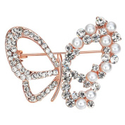 Cdet 1X Brooch Women Butterfly Diamond Pin Christmas Wedding Bridal Pin Dress Scarves Shawl Clip Ladies Jewellery Love Gift