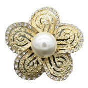Cdet 1X Brooch Women Pearl Flower Diamond Pin Christmas Wedding Bridal Pin Dress Scarves Shawl Clip Ladies Jewellery Love Gift