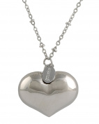 Chiama Angels Mexican Bola Heart Rhodium-Plated Silver Mother Care