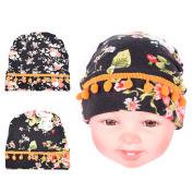 2PC baby hats Unisex, 100% Super Soft Cute Baby Kids Newborn Hats Hairball knitting cotton Baby Hat Cap Boys & Girls