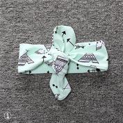 RUNGAO Lovely Cotton Baby Toddler Kids Girl Headband Headwear Hair Band Green Tower