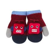 KEERADS Warm Gloves Kids Baby Boys Girls Toddler Knitted Mittens Leaf Gloves