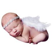 Tione-Ve Photogronephy Prop Newborn Boneby Girls Angel Feonether Wings With Heonedbonend Christening Gift Set