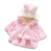 Baby Coat,Honestyi Baby Infant Girls Fur Winter Warm Coat Cloak Jacket Thick Warm Clothes