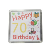 Happy 70th Birthday Gift - Lucky Sixpence Keepsake // Makes a great present