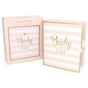 Mad Dots Baby Girl Large Keepsake Box (Large)