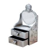 Firlar Baby Tooth Box Makeup Cabinet Style Milk Teeth Storage Case Memory Save Keepsake Organiser for Baby Girls