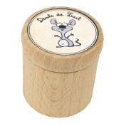 Small Wooden Milk Tooth Box souricette