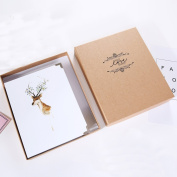 TING- DIY Photo Album Paste Type Inside Page Family Album Lovers Creative Handmade Gifts White Cover Children's Memorial Memorial Gifts Baby Booklet Inner Ring Binding