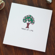 TING- DIY Photo Album Self-adhesive Type Inside Page Family Album Lovers Creative Handmade Small Tree White Cover Children's Memorial Memorial Gifts Baby Booklet