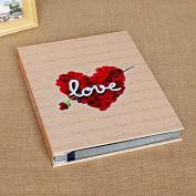 Handmade DIY paste album family album album large capacity business,The heart of the black petals