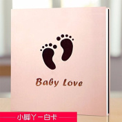 Handmade album, self pasted family baby album,Little foot A
