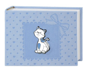 Photo Album and Diary – Kitten Blue 15 x 20 cm Bi Laminate Silver Made In Italy Finished