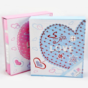 TING- Photo Album Insert Page Family Album Hollow Cover Blue Cover Children's Memorial Gift Baby Booklet