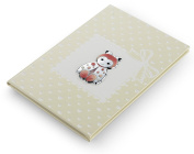 Birth – Red Ladybird Journal – Neutral – 15 x 21 cm Bi Laminate Silver Made In Italy Finished