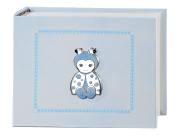 Photo Album and Diary – Ladybird Blue 15 x 20 cm Bi Laminate Silver Made In Italy Finished