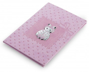 Journal Birth – Ladybird Pink 15 x 21 cm Bi Laminate Silver Made In Italy Finished
