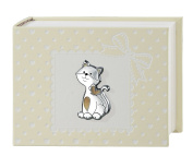 Photo Album and Journal – Kitten – Neutral – cm 15 x 20 Bi Laminate Silver Made In Italy Finished
