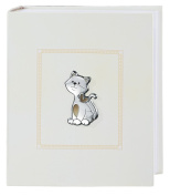 Photo Album and Journal – Kitten – Neutral – cm 25 x 20 Bi Laminate Silver Made In Italy Finished