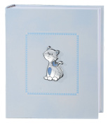 Photo Album and Diary – Kitten Blue 25 cm x 20 Bi Laminate Silver Made In Italy Finished