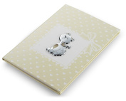 Birth – Kitten Journal – Neutral – 15 x 21 cm Bi Laminate Silver Made In Italy Finished