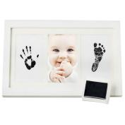Pinkcream Baby Handprint and Footprint Photo Frame Ink Pad DIY Kit for Baby Keepsake Gift