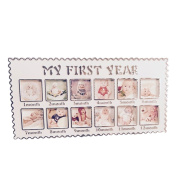 Pinkcream Infant Baby One Year Pictures Hanging Decorative Party DIY Memorial Photo Frame